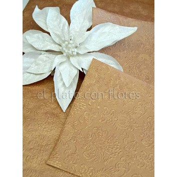 servilletas de papel relieve Bronce